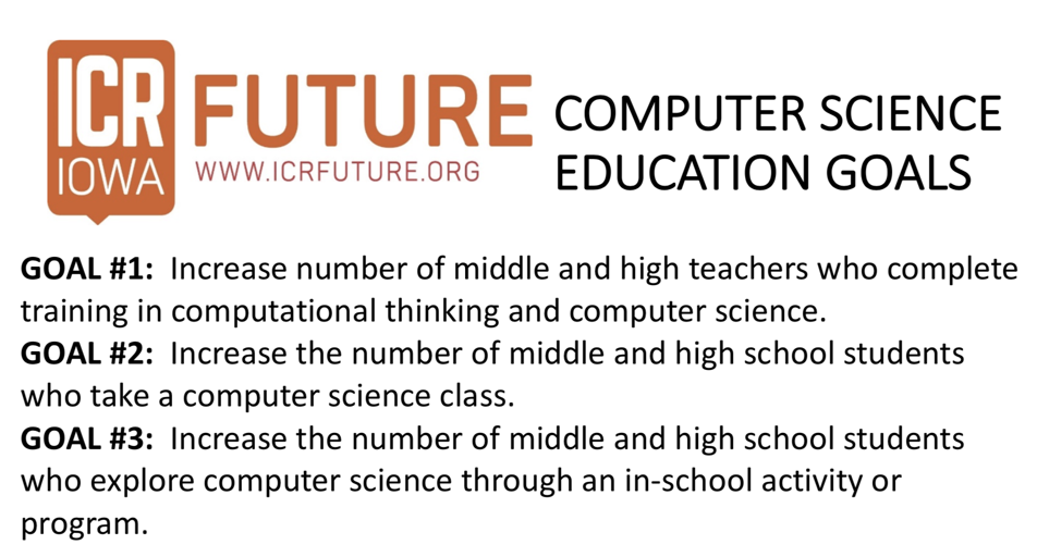 ICR Iowa Future Logo with Computer Science Education Goals
