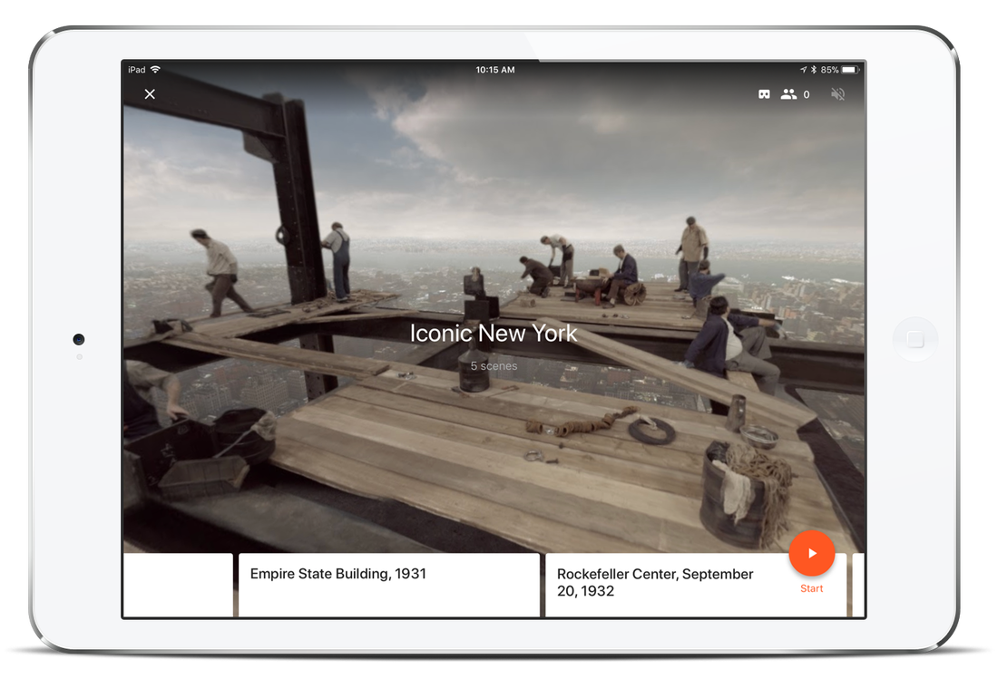 Screenshot: Google Expeditions app for iPad
